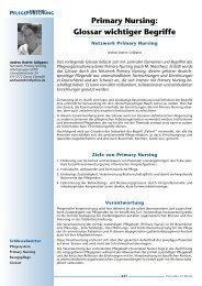 Primary Nursing: Glossar wichtiger Begriffe - Pflegeportal