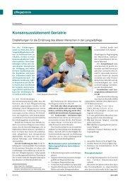 Konsensusstatement Geriatrie - Empfehlungen für die ... - Pflegeportal