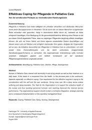 Effektives Coping für Pflegende in Palliative Care - SSOAR