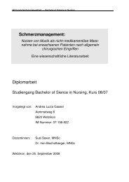 Schmerzmanagement: Diplomarbeit - Pflegeportal