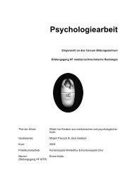 Psychologiearbeit - Pflegeportal