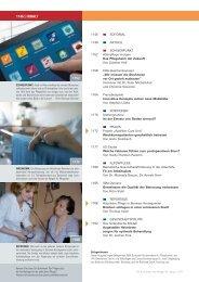 Zum Inhaltsverzeichnis des Heftes - Pflegeportal