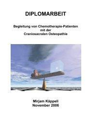 Begleitung von Chemotherapie Patienten mit der Craniosacralen ...