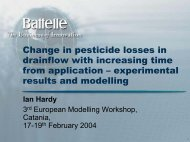 Change in pesticide losses in drainflow with increasing ... - pfmodels
