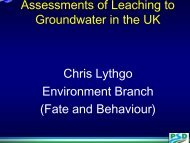 Leaching assessment in the UK - pfmodels