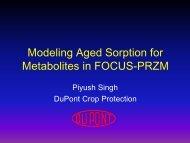 Modelling aged sorption for metabolites in FOCUS-PRZM - pfmodels