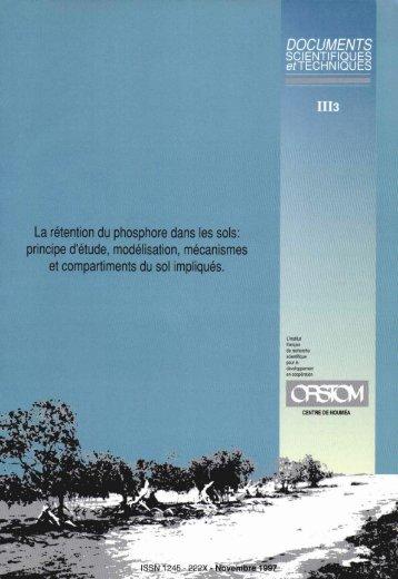 La rétention du phosphore dans les sols : principes d ... - pfmodels
