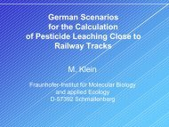 German Scenarios for the calculation of pesticide ... - pfmodels