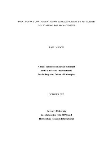 Thesis - pfmodels