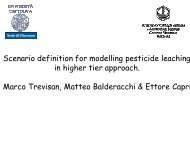 Scenario definition for modelling pesticide fate in higher ... - pfmodels