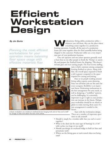 Efficient Workstation Design - PFM Production