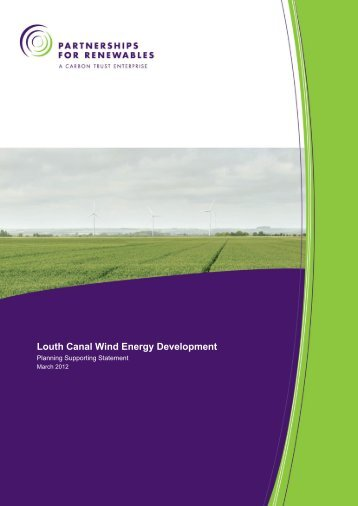 Planning Supporting Statement - Partnerships for Renewables
