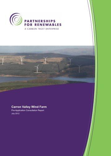 ES Pre application consultation report - Partnerships for Renewables