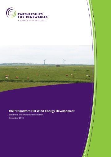 Statement of Community Involvement - Partnerships for Renewables