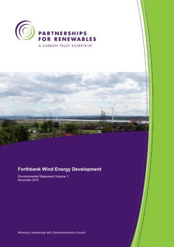 Forthbank Wind Energy Development - Partnerships for Renewables