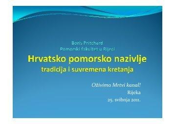 MARITERM - Javna prezentacija 27.05.2011 - Pomorski fakultet u ...