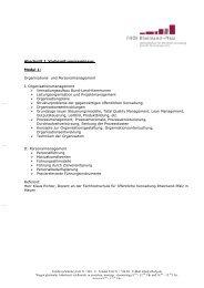 Inhaltliche Gestaltung - Fachhochschule für öffentliche Verwaltung