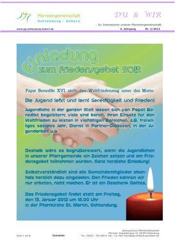 DU & WIR - Pfarreiengemeinschaft Ochtendung - Kobern
