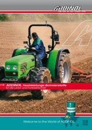 Land- und Forstwirtschaft - ADDINOL Lube Oil GmbH