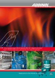 ADDINOL Gasmotorenöle - PG-Schmierstoffe
