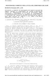 DM n.185 del 25 settembre 2007 - Camere di Commercio
