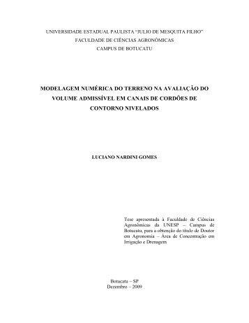 modelagem numérica do terreno na avaliação - Faculdade de ...
