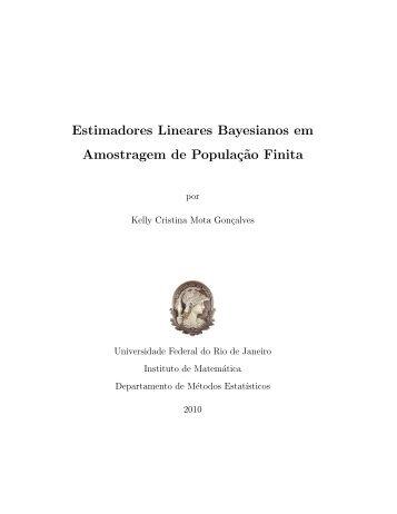 Estimadores Lineares Bayesianos em Amostragem de Populaç˜ao ...