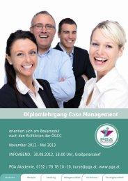 Diplomlehrgang Case Management - PGA