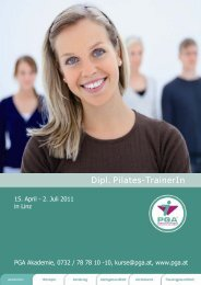 Dipl. Pilates-TrainerIn - PGA