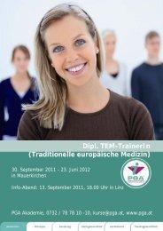 Dipl. TEM-TrainerIn (Traditionelle europäische Medizin) - PGA