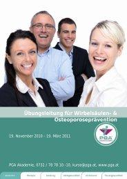 Übungsleitung für Wirbelsäulen- & Osteoporoseprävention - PGA