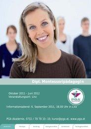 Dipl. MontessoripädagogIn - PGA