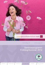 Seminarprogramm Frühling/Sommer 2012 - PGA