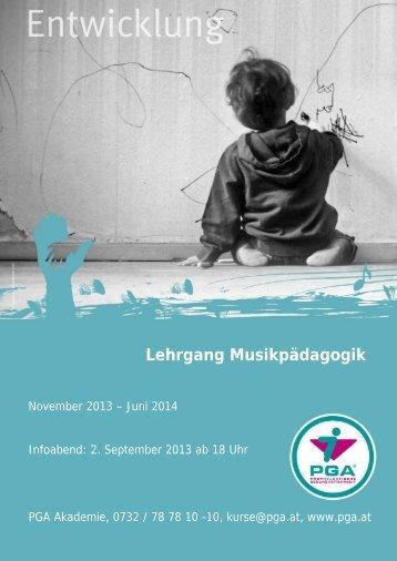 Lehrgang Musikpädagogik - PGA