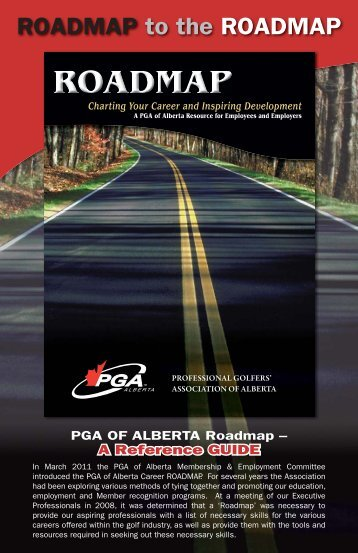 roadmap to the roadmap brochure - PGA of Alberta