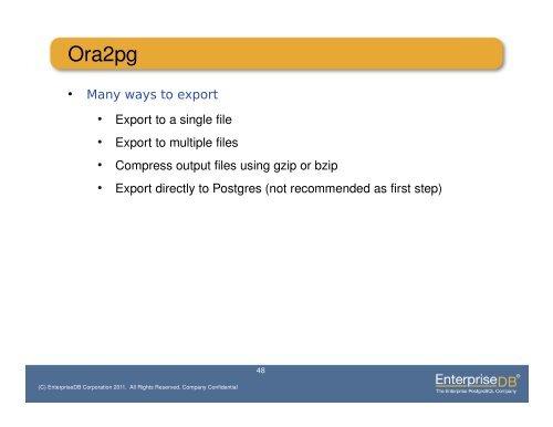 Ora2pg Export
