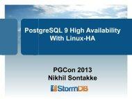 PostgreSQL 9 and Linux HA - PGCon