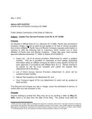 May 1, 2003 Advice 2457-G/2376-E (Pacific Gas and Electric ...