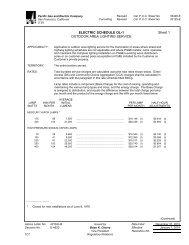 ELECTRIC SCHEDULE OL-1 Sheet 1 OUTDOOR AREA LIGHTING ...