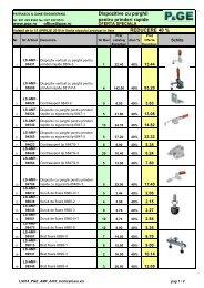 Dispozitive cu parghii pentru prinderi rapide REDUCERE 40 % - PGE