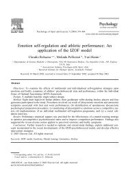 Emotion self-regulation and athletic performance: An ... - UFPR