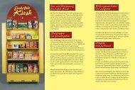 Flyer zum Eine-Welt-Kiosk