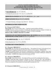 04ª Sessão Ordinária - Ministério Público do Estado do Ceará