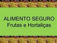 ALIMENTO SEGURO Frutas e Hortaliças