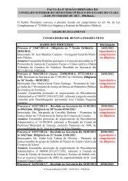 08ª Sessão Ordinária - Ministério Público do Estado do Ceará
