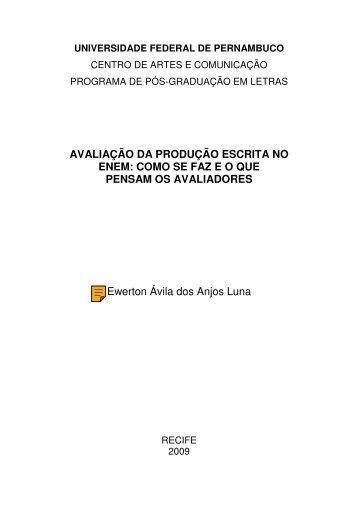 AVALIAÇÃO DA PRODUÇÃO ESCRITA NO ENEM ... - UFPE PPGL