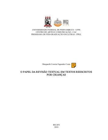 o papel da revisão textual em textos reescritos por ... - UFPE PPGL