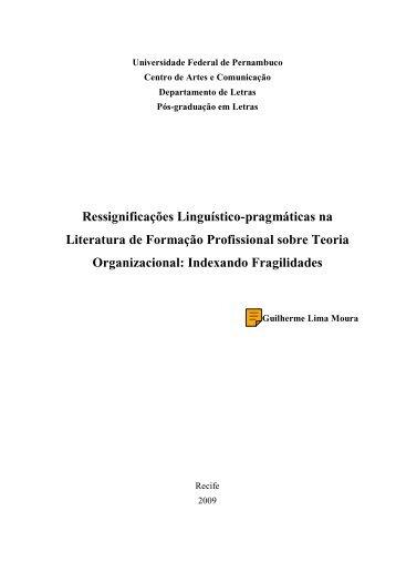 Ressignificações Linguístico-pragmáticas na ... - UFPE PPGL