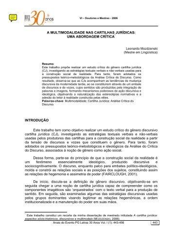 A MULTIMODALIDADE NAS CARTILHAS JURÍDICAS ... - UFPE PPGL