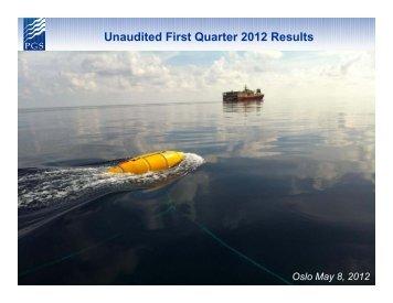 Presentation Q1 2012 - PGS
